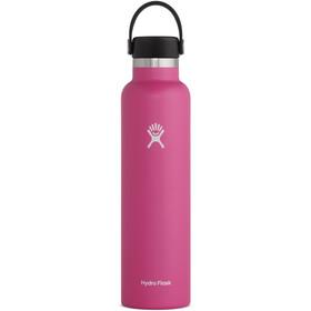 Hydro Flask Standard Mouth Drinkfles met standaard Flex Cap 709ml, roze
